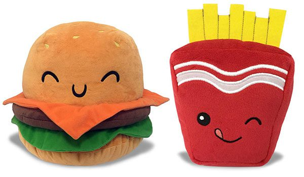 burger and fries kawaii food plush