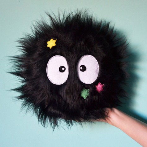 Cute Kawaii Totoro Anime Led Colorful Plush Pillow : Most Wanted: Totoro Soot Sprite Pillow - Super Cute Kawaii!!