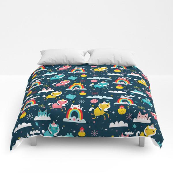 cute comforters kawaii space unicorns