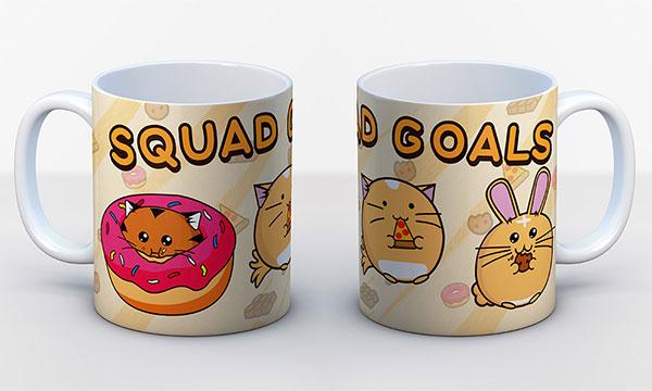 fuzzballs squad goals mug