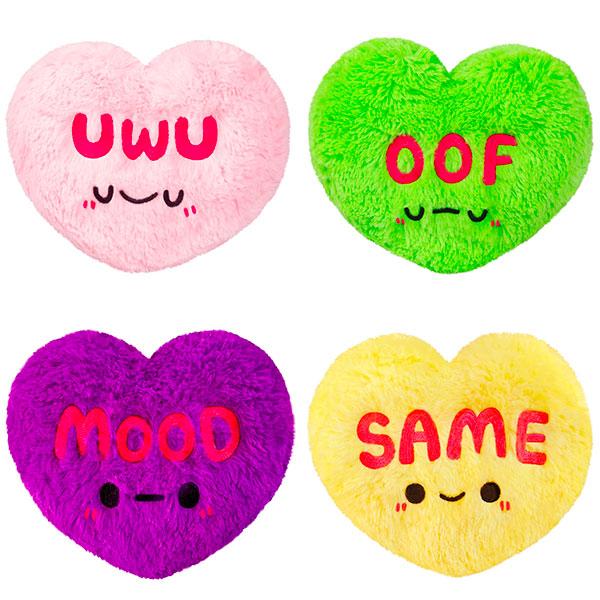kawaii Valentines plush candy hearts