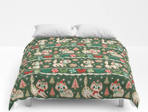 cute comforters kawaii christmas cats