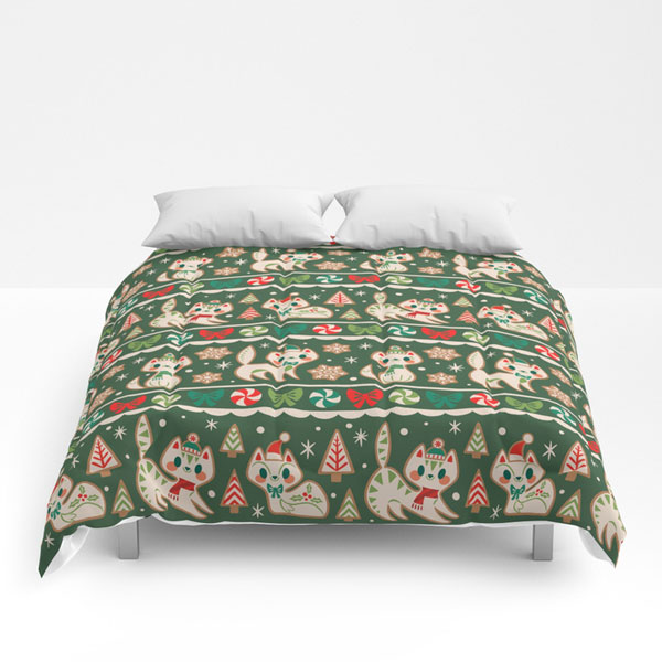 cute comforters kawaii christmas cats