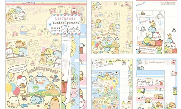 Cute Travel Gifts - Sumikko Gurashi letter set