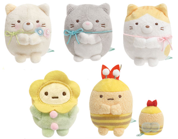 Sumikko Gurashi cats mini plush