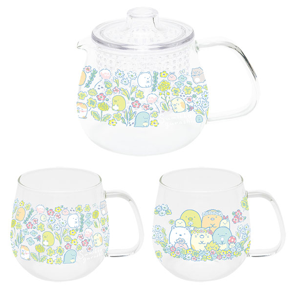 Sumikko Gurashi cats teapot and tea set