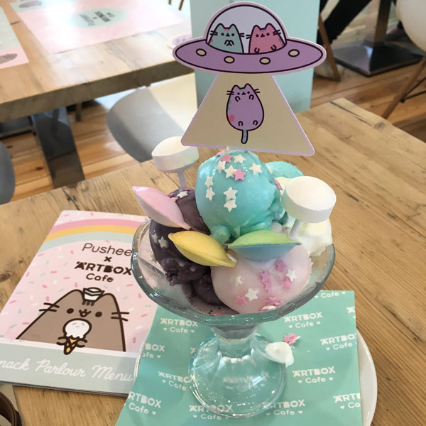 Pusheen x ARTBOX Cafe sundaes