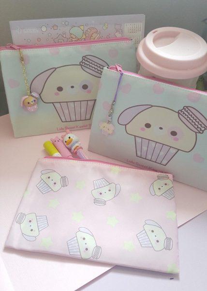 kawaii fabric pouches