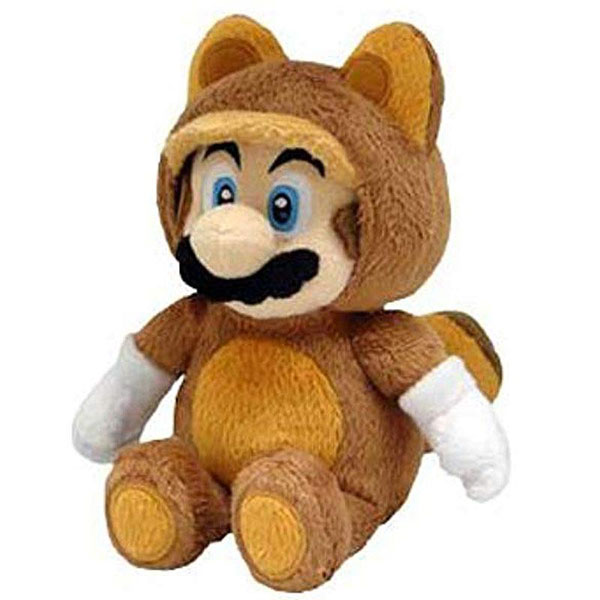 Super Mario Bros. tanooki plush