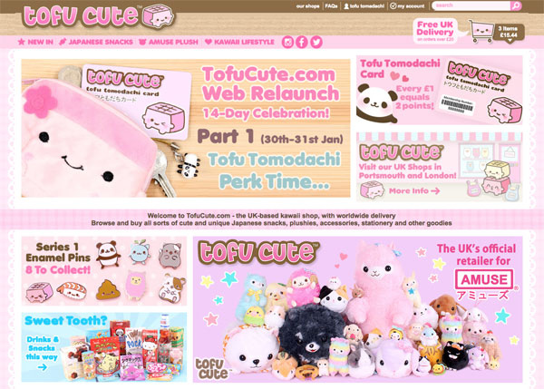 tofu cute website