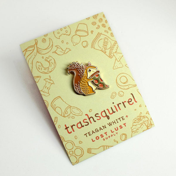 cute squirrels enamel pin