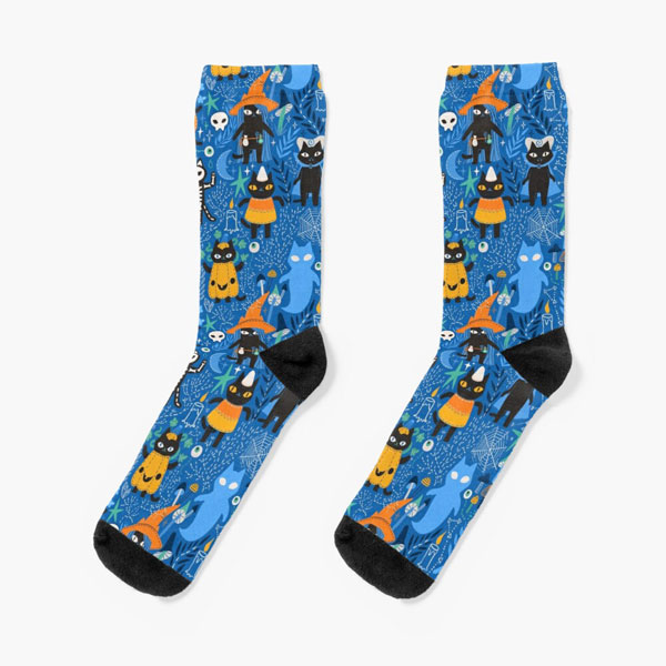 Kawaii Socks at Redbubble - halloween cats