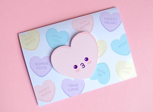 Kawaii Valentine's Day Printable Card DIY