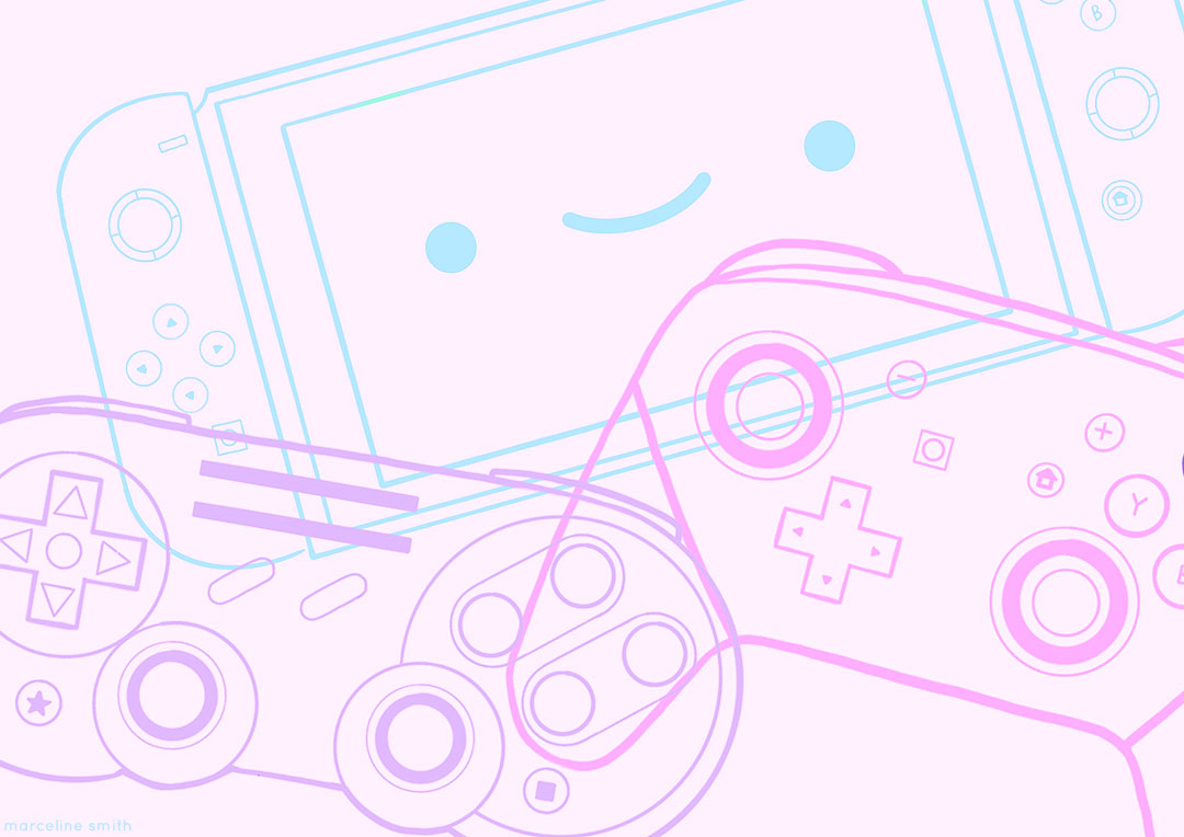 video games illustration - marcelinesmith