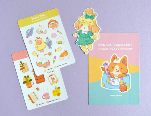 Kawaii Stationery Shops - Violet Jim Art