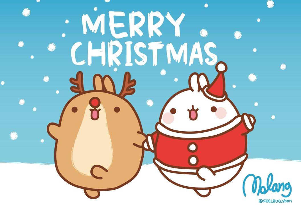 Merry Molang Christmas! - Super Cute Kawaii!!