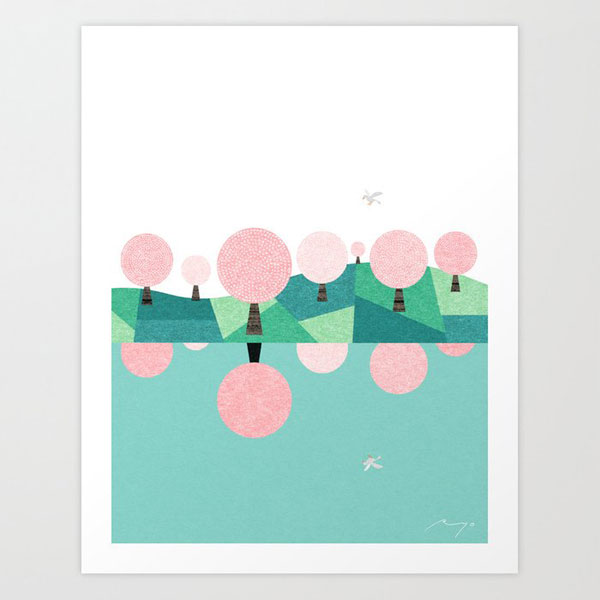 japan sakura art print