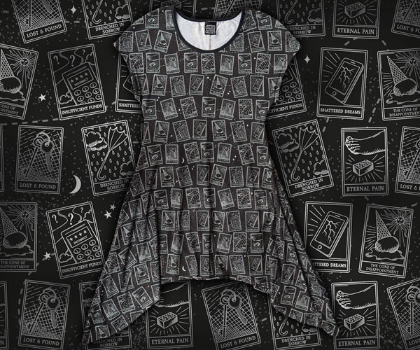 tarot card tunic kawaii fashion