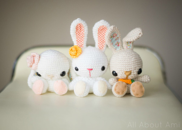 free easter crafts - amigurumi rabbit