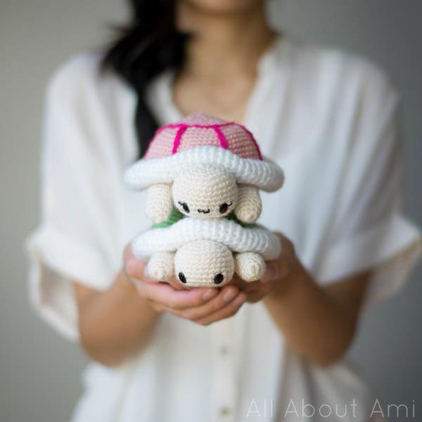kawaii turtles amigurumi crochet pattern