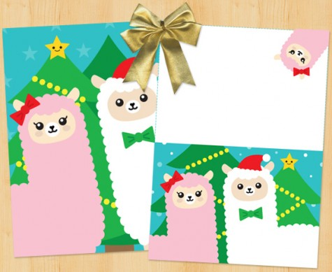 xmas-christmas-card-alpaca-kawaii