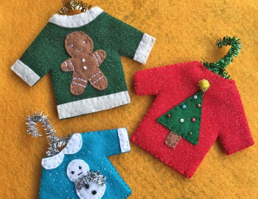 DIY Christmas Jumper Decorations