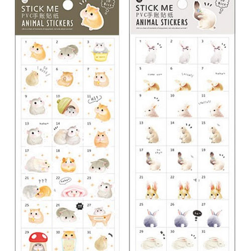 yozocraft kawaii animal stickers