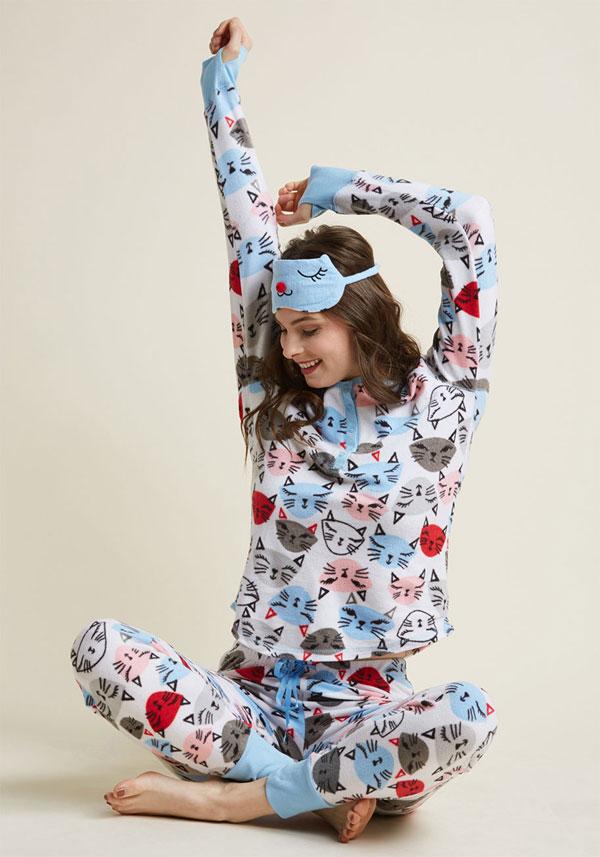kawaii pajamas Modcloth cats
