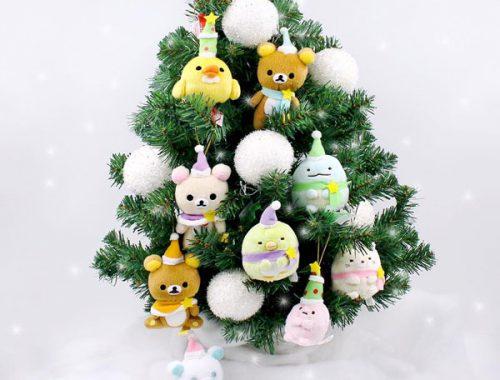 Kawaii Christmas decorations - San-X plush ornaments