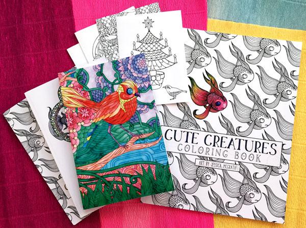Cute Creatures colouring books