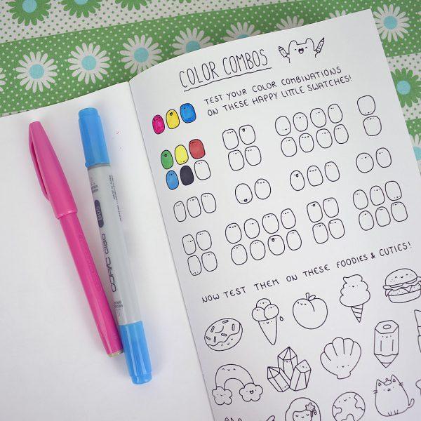 Kirakira Doodles Kawaii Coloring Book Review Super Cute Kawaii