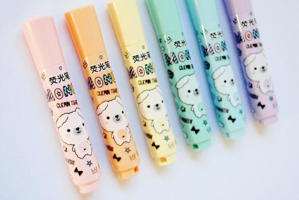 kawaii highlighters pens