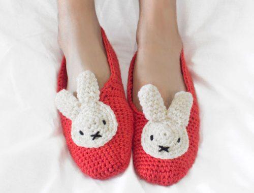Miffy slippers amigurumi crochet patterns and kits