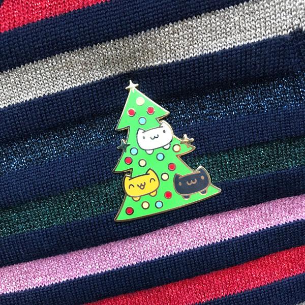 Christmas Enamel Pins Catmas Tree