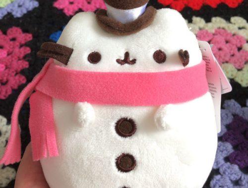 Pusheen plush snowman