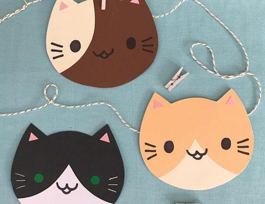 DIY Kawaii Cats Paper Craft Tutorial