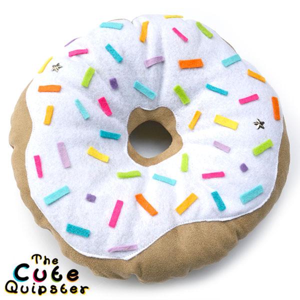 The Cute Quipster donut cushion