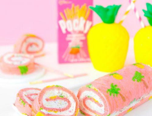 tropical fruit pocky roll cake