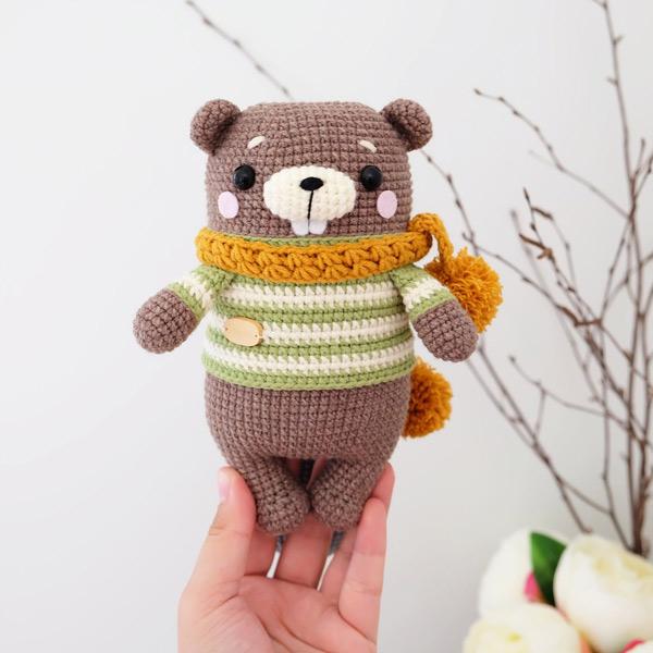 kawaii beaver amigurumi crochet patterns