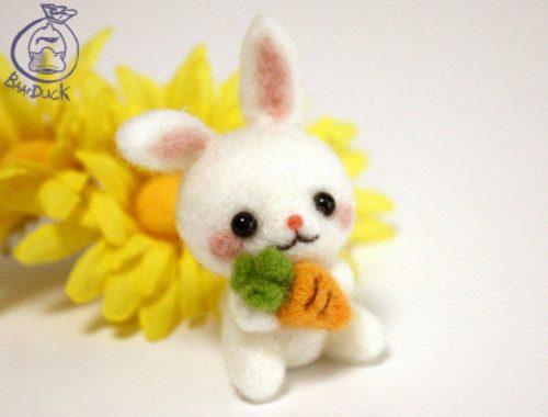 Easter Bunny DIY Craft Kits needlefelting