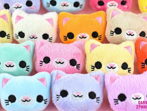 Kawaii hair accessories - plush pastel cats