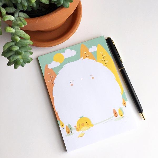 kawaii notepads fluffy monster