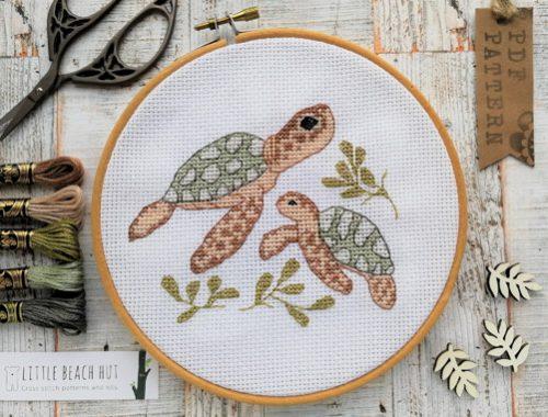 Cute Cross Stitch Patterns - Sea Turtle