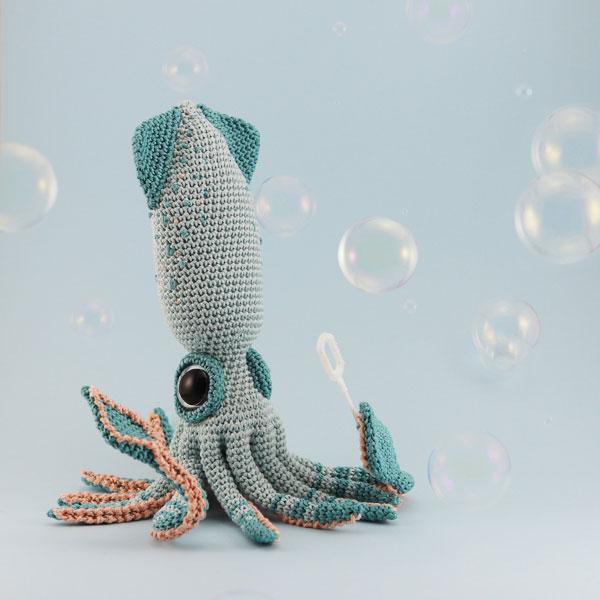 Kawaii squid Amigurumi Patterns