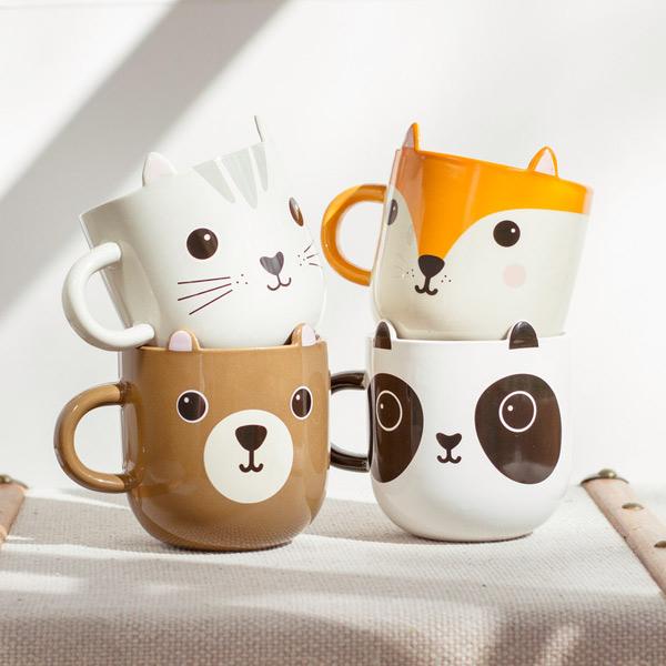 kawaii mugs animals