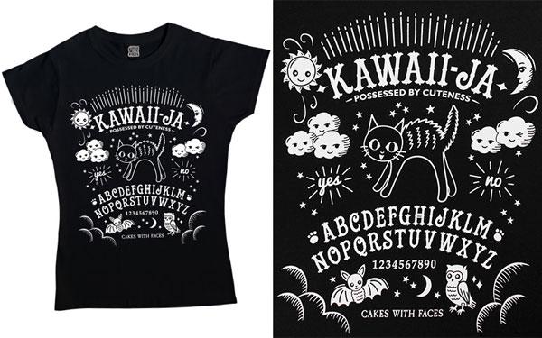 kawaii ouija board tshirt spooky cute