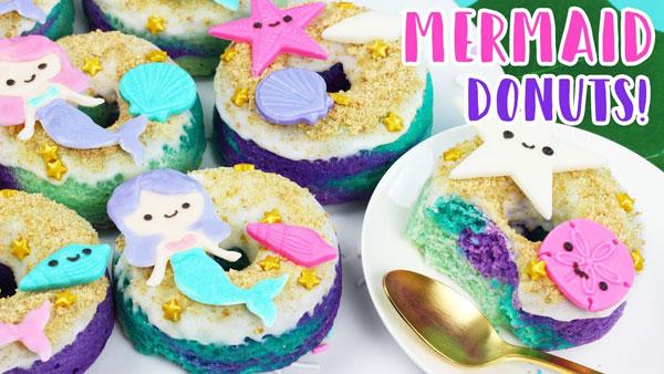 summer crafts - mermaid donuts