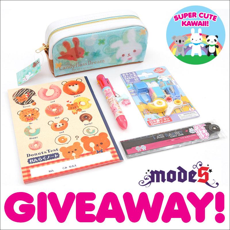modes4u kawaii stationery giveaway