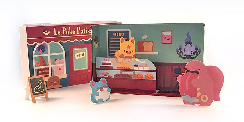 Kawaii Papercraft Matchbox Diorama - Pokemon