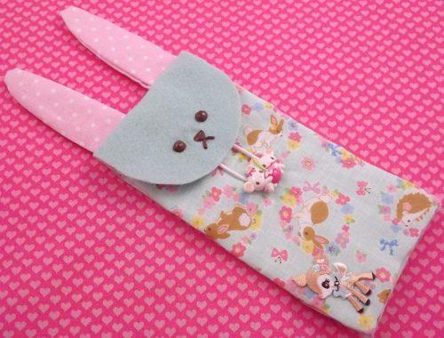 DIY Easter Bunny pencil case - Super Cute Kawaii